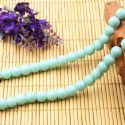 Beads, Glass, Light blue , Round shape, Diameter 8mm, 10 Beads, [BHB0160]